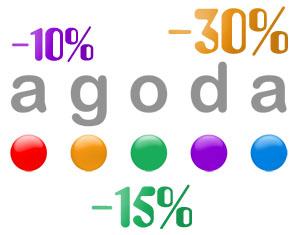 Agoda промокод на скидку от 10 до 30% на отели!