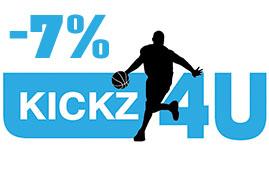 kickz4u номер купона на скидку 7% на все!