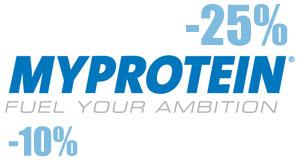 myprotein.ru скидочный код! 10-25% скидки на заказы!